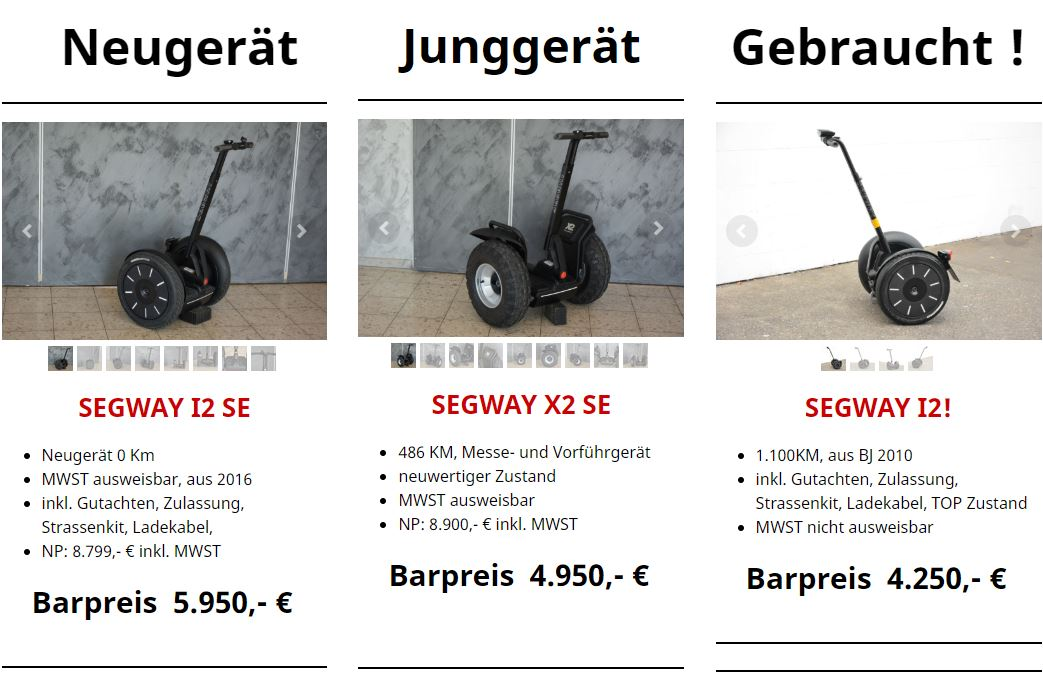 segway gebraucht kaufen segwaypoint niederrhein. Black Bedroom Furniture Sets. Home Design Ideas